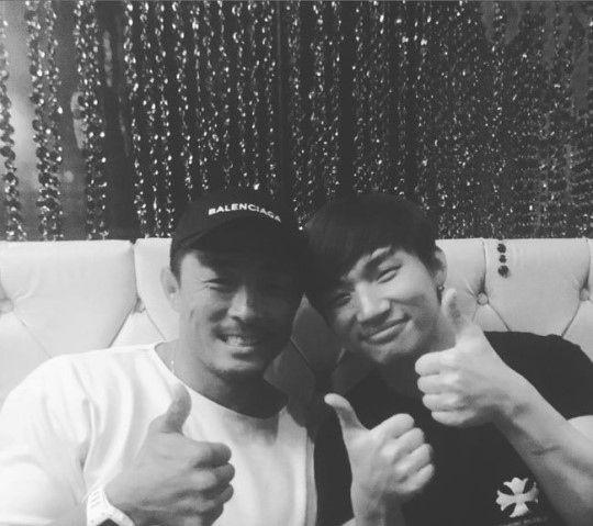【BIGBANG NEWS】秋山成勲、BIGBANGのD-LITEとのツーショット写真を公開「久しぶり」