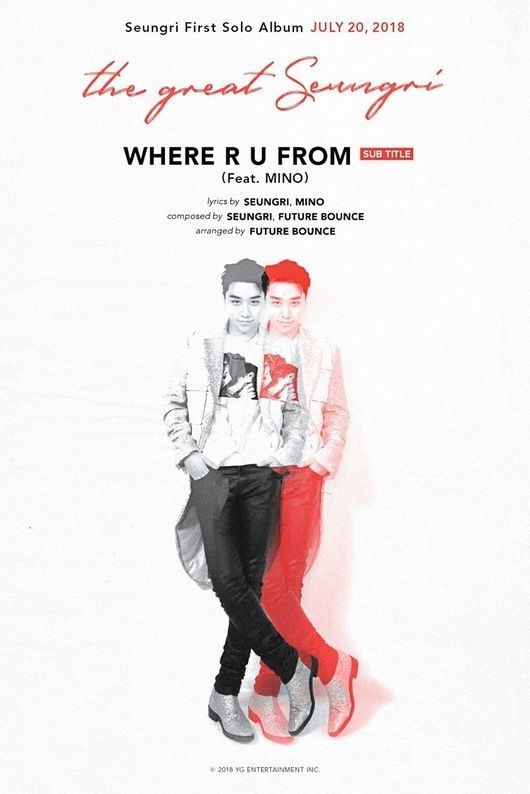 【BIGBANG NEWS】BIGBANGのV.I、新曲「WHERE R U FROM」でWINNER ソン・ミノとコラボ!…MVも制作