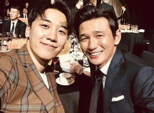 """【BIGBANG NEWS】BIGBANGのV.I、俳優ファン・ジョンミンとの仲睦まじい2ショット公開""""果てしない黄金人脈"""""""