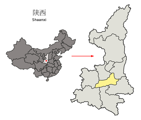 705px-Location_of_Xi'an_Prefecture_within_Shaanxi_(China)