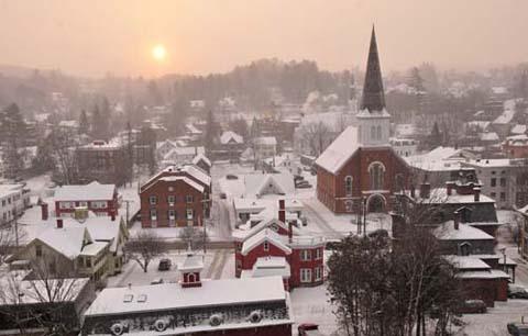 Montpelier winter dawn
