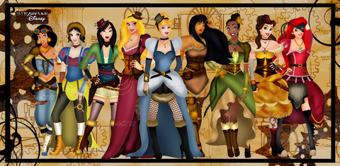 steampunk_disney_princesses_by_helleetitch-d4907l2