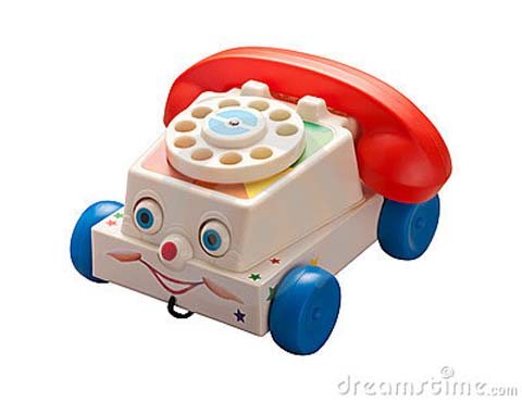 antique-toy-phone-with-clipping-path-thumb18497237