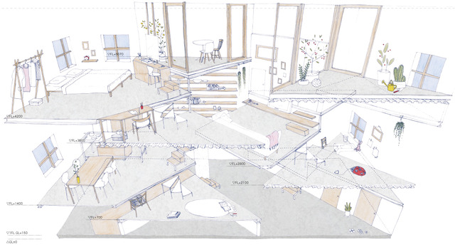 21_House_in_Miyamoto_Section_perspective
