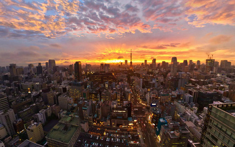 Sunset-in-Tokyo