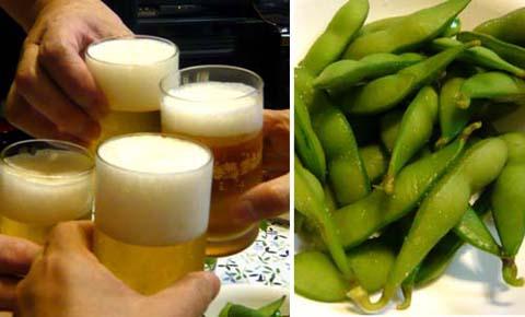 001 ビールと枝豆