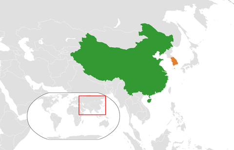 China_South_Korea_Locator
