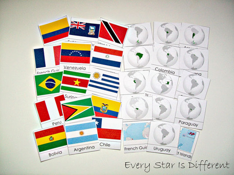 South+America+Flags+&+Country+Cards