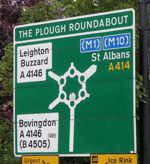 Plough_roundabout_sign