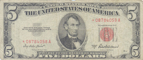USD 5 USN f