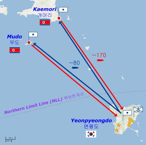605px-Yeonpyeong_shelling