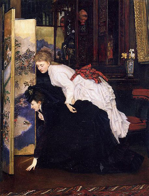 457px-James_Tissot_-_Young_Women_Looking_at_Japanese_Objects