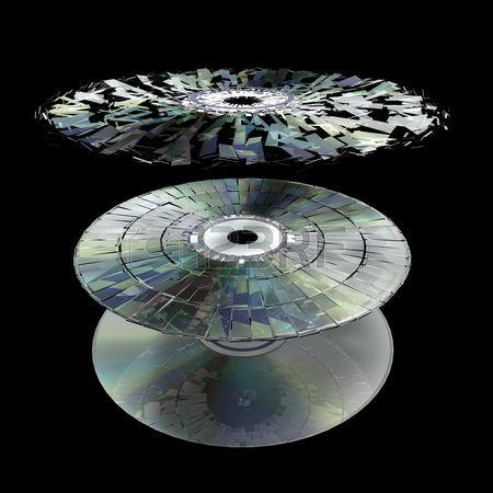 5058958-データ情報の損失や破損の図は、粉々-になった-cd
