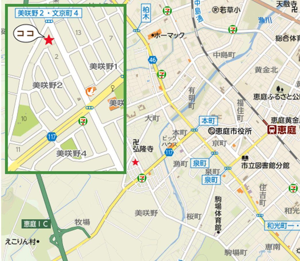 スタジオの周辺地図