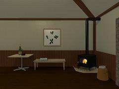 room11 Xmasツリーの見える待合室