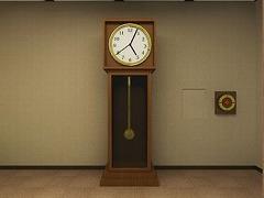 大きな時計のある部屋からの脱出