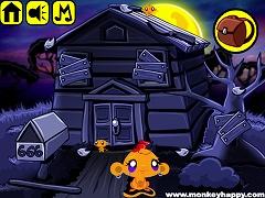 Monkey Happy Stage 343 - Haunted House