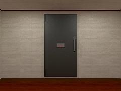頑丈な扉のある部屋からの脱出