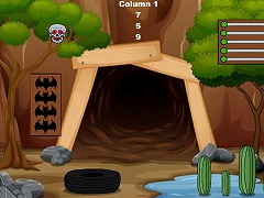 Hungry Old Cave Man Escape