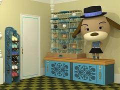 ちょっと脱出 熊ソファのある部屋