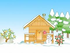 雪の庭から脱出