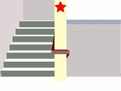 ピクトさんをさがせ!138(学校の階段編)