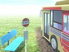 脱出ゲーム バス停のある道