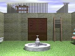 脱出ゲーム 噴水のある庭からの脱出