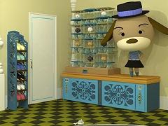 脱出ゲーム ちょっと脱出 熊ソファのある部屋