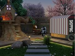 脱出ゲーム-初夏の夜の公園とUFO-