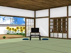脱出ゲーム Obon ひまわり溢れる田舎の古民家