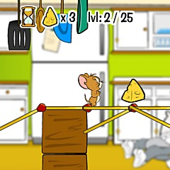 Tom and Jerry Rig-a-Bridge