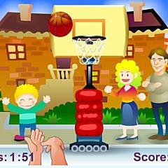 バスケットボール投げ