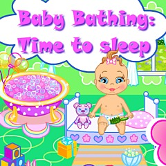 Baby Bathing Time to Sleep