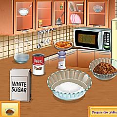 Sara's Cooking Class Peach Cobbler