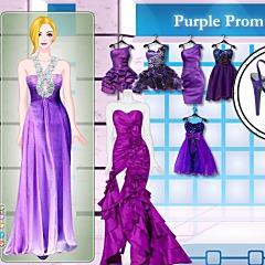 すてきな紫色のドレス