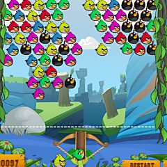 Angry Birds Bubble Game