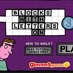 Blocks With Letters On 3 Game