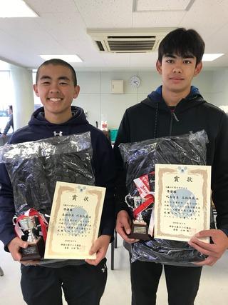 川崎ジュニアテニス選手権大会16歳以下男子ダブルス準優勝