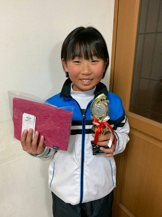 桜田ウインタージュニアテニストーナメント14歳以下女子シングルス準優勝