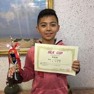 シルクカップジュニアテニストーナメント12歳以下男子ダブルス準優勝