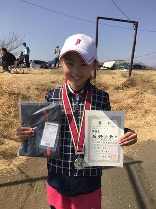 フェニックス大磯ジュニアテニストーナメント新春201812歳以下女子シングルス準優勝