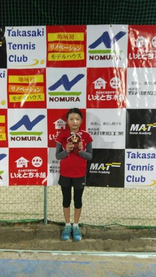 2019野村建設工業高崎オープンジュニアWINTER14歳女子シングルス準優勝