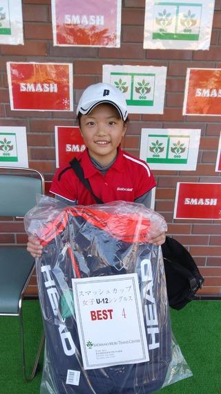 昭和の森ウィンタージュニアスマッシュカップ12歳以下女子シングルスベスト4