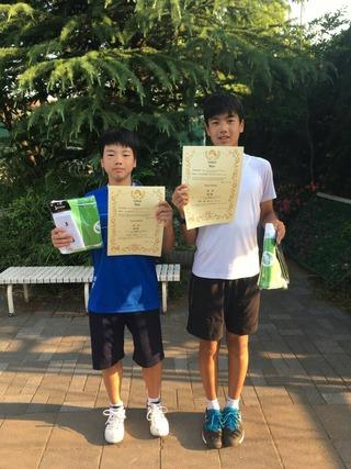 グリーンテニスプラザジュニア首都圏オープン春季大会2018 14歳以下男子ダブルス優勝