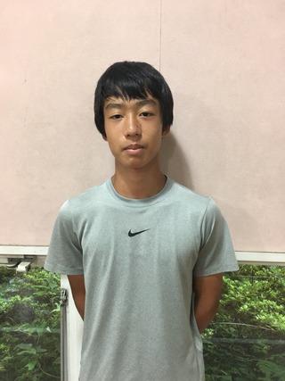 三芳グランド夏のジュニアコンペティション16歳以下男子シングルス準優勝