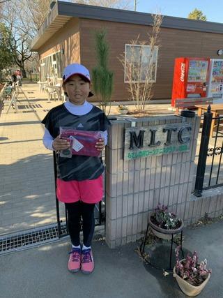 むさしの村ニューイヤージュニアテニストーナメント12歳以下女子シングルス優勝