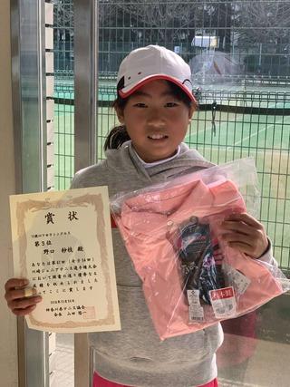 川崎ジュニアテニス選手権大会12歳以下女子シングルス3位