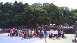 全国選抜ジュニアテニス選手権大会開会式・1回戦の結果報告
