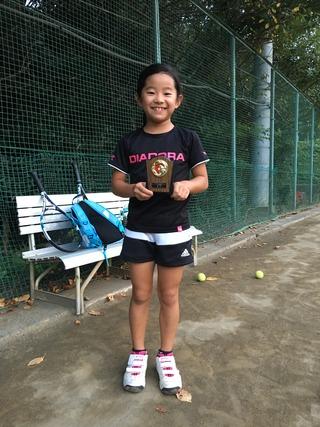 すくすくのっぽくんカップ相模原クリエイト大会10歳以下女子シングルス優勝